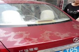 同悦生锈后召回后,车漆面脱落。